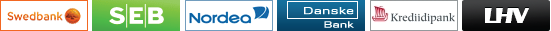 Maksekeskus - SEB Pank, Nordea, Danske Bank, Krediidipank ja LHV Pank klientidele